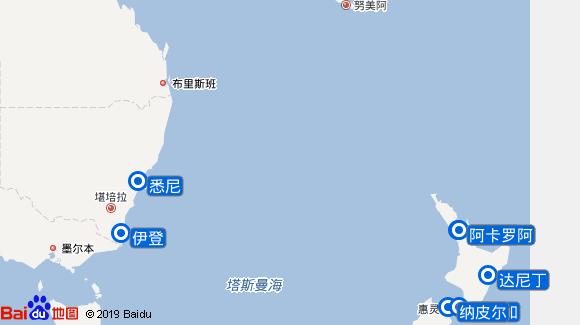 诺丹号航线图