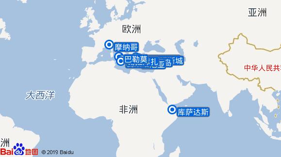 银海明月号航线图