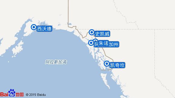 宝石号航线图