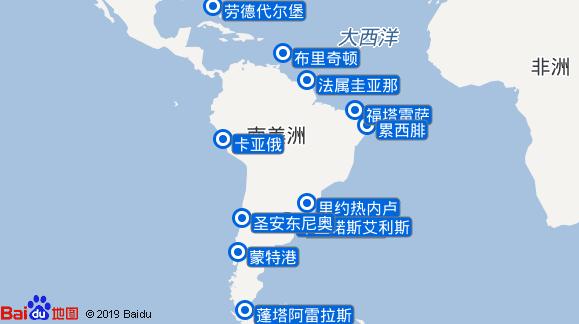 柯林斯丹号航线图