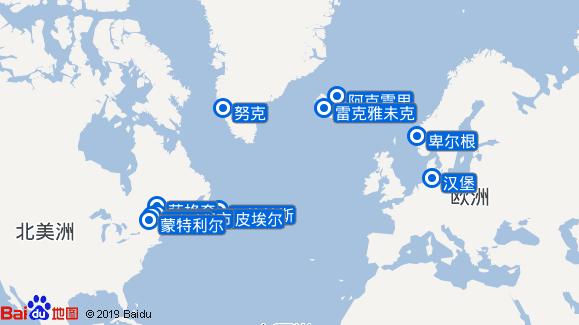 Ms Europa航线图