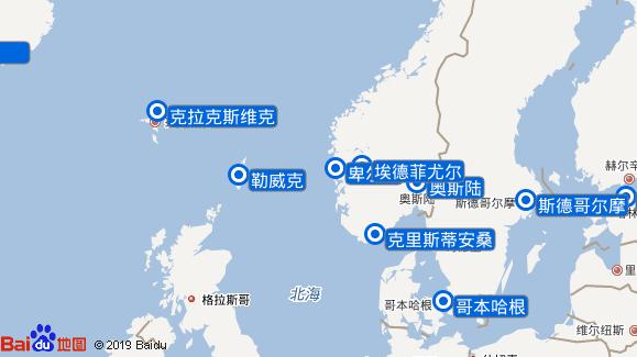 Silver Wind航线图