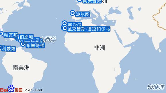 Black Watch航线图