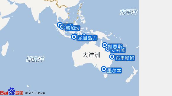 Pacific Dawn航线图