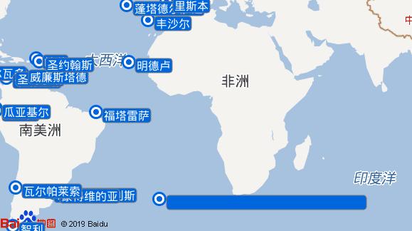 Spirit of Discovery航线图