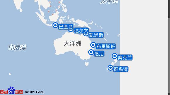 Silver Whisper航线图