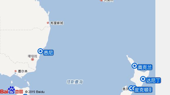 新月号航线图