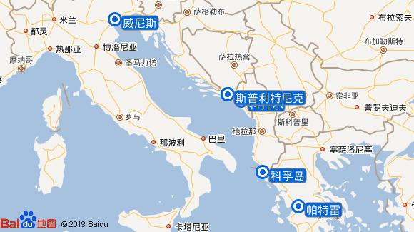 奥林匹亚号航线图