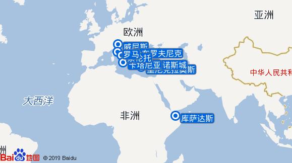 太平洋公主号航线图