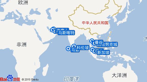 贝拉航线图