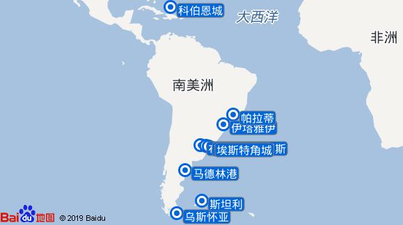 世界探索号航线图