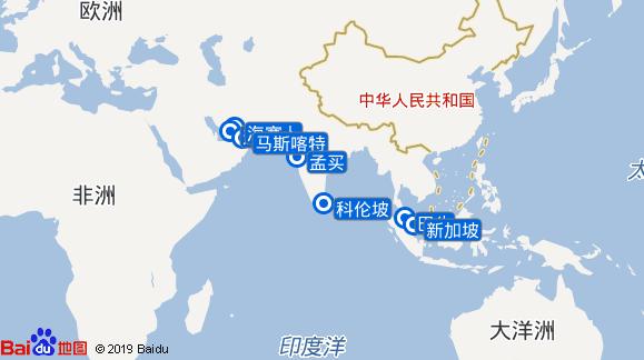 Mein Schiff 6航线图