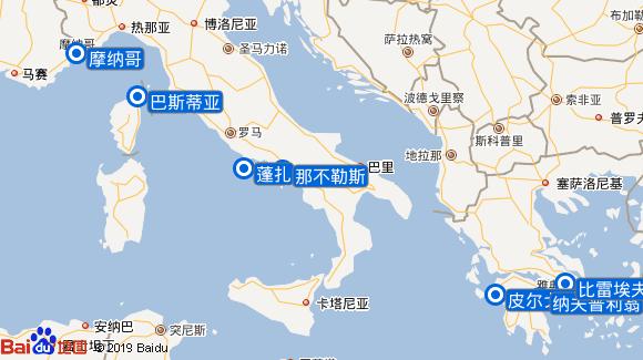 Seabourn Ovation航线图