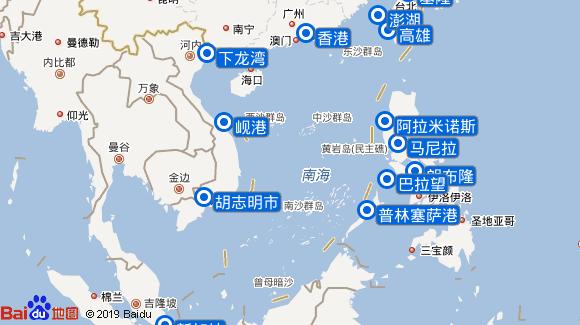 Silver Spirit航线图
