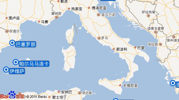 海洋迎风号航线图