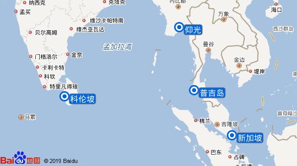 银海心灵号航线图