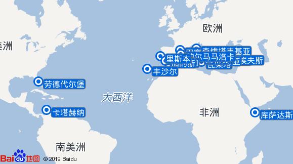 新阿姆斯特丹号航线图