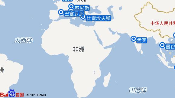 太阳号航线图