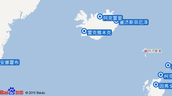 AidaCara航线图