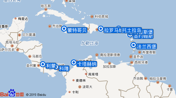 鲁纳号航线图