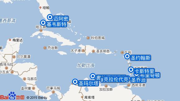 Riviera航线图