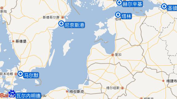 甄妮号航线图