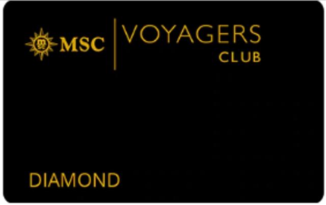 地中海航海家俱乐部-钻石卡会员 MSC Voyagers Club-Black Membership