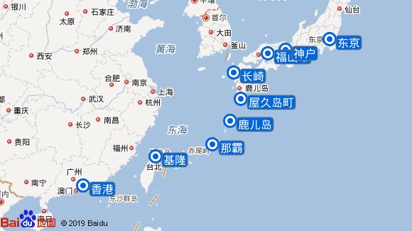 Star Breeze航线图