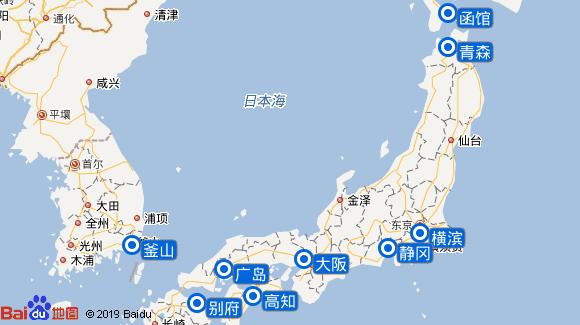 千禧号航线图