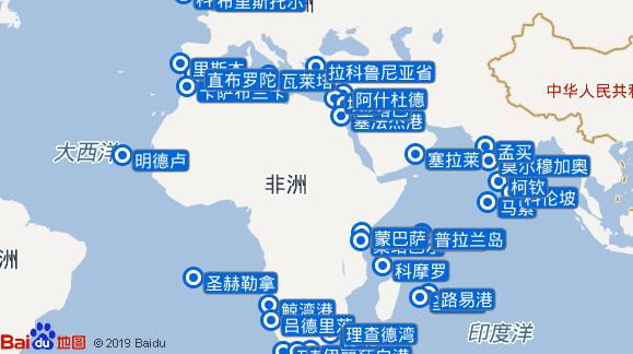 Marco Polo航线图