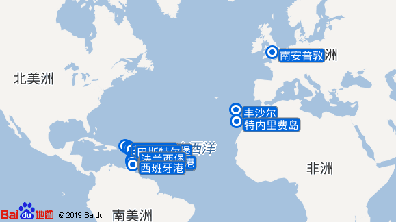 Saga Sapphire航线图