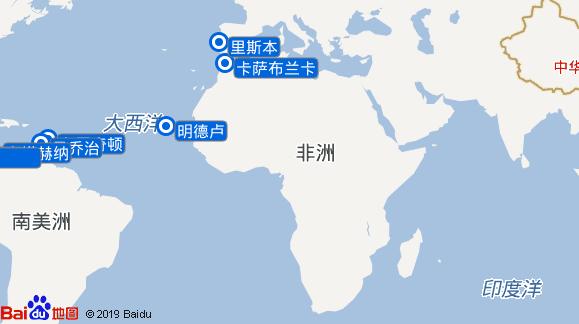 Vasco Da Gama航线图