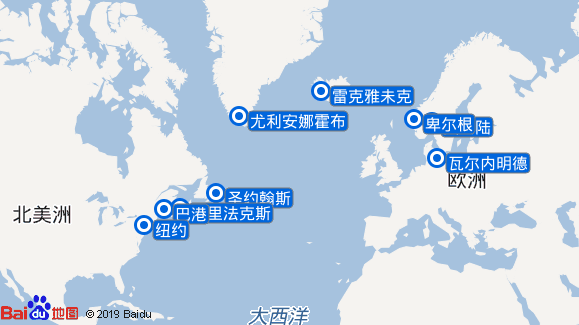 AidaDiva航线图