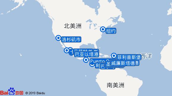 畅悦号航线图