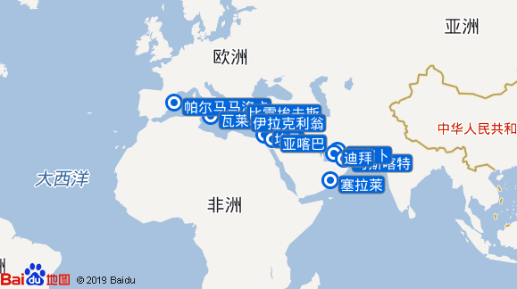AidaVita航线图