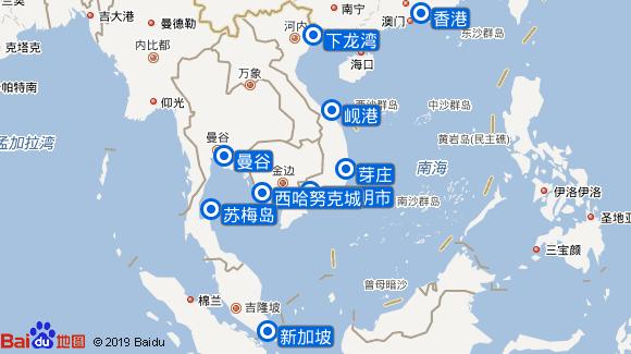 七海探索者号航线图