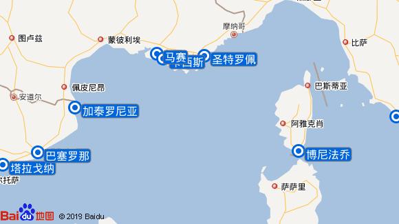 SeaDream I航线图