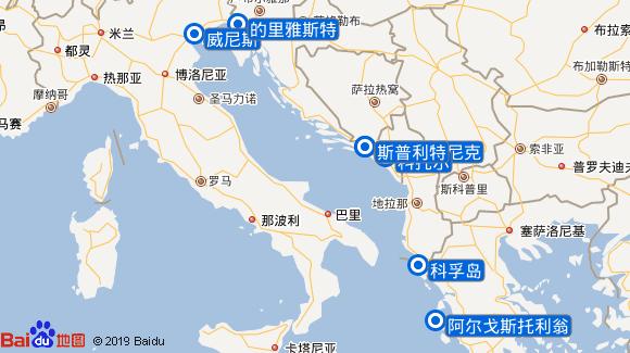 地中海抒情号航线图