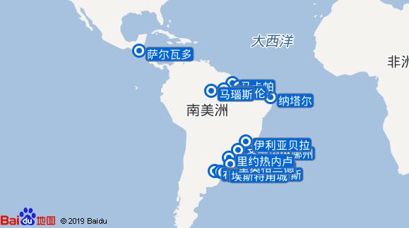 Amadea航线图