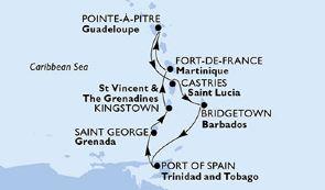 瓜德罗普岛+卡斯特里+布里奇顿+西班牙港+圣乔治+凯契根
