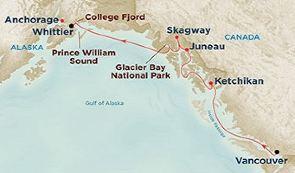 跟团游·公主邮轮 珊瑚公主号 美国国家公园环游,加拿大洛基山脉,阿拉斯加冰川巡游