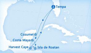 科茲莫+科斯塔玛雅+罗阿坦+Glovers Reef Atoll