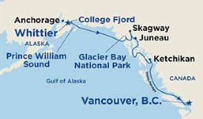 跟团游·阿拉斯加冰河邮轮+丹奈利国家公园阿拉斯加之心16天狂野深度游