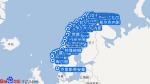 北挪威号航线图