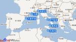 地中海荣耀号航线图