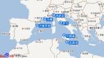地中海华彩号航线图