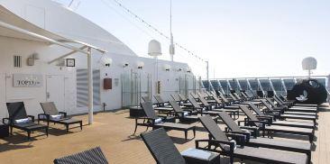 顶层甲板专属日光浴