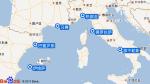 地中海神曲号航线图