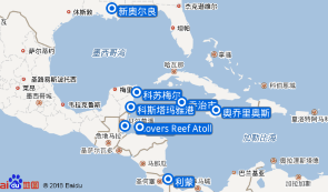科苏梅尔+乔治市+奥乔里奥斯+利蒙+罗阿坦+Glovers Reef Atoll+