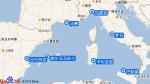 地中海幻想曲号航线图